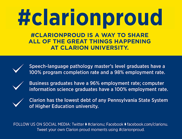 Here are three ways we are Clarion Proud