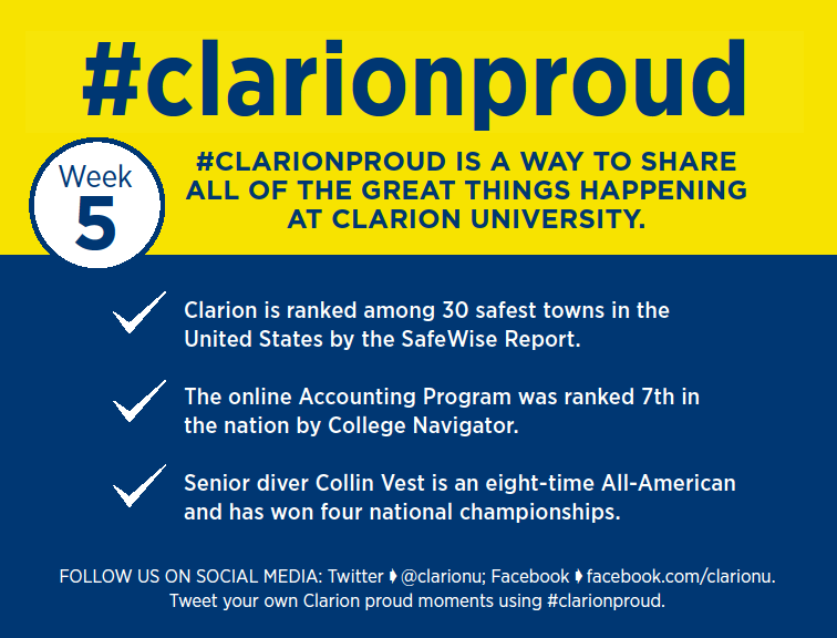 We are Clarion Proud