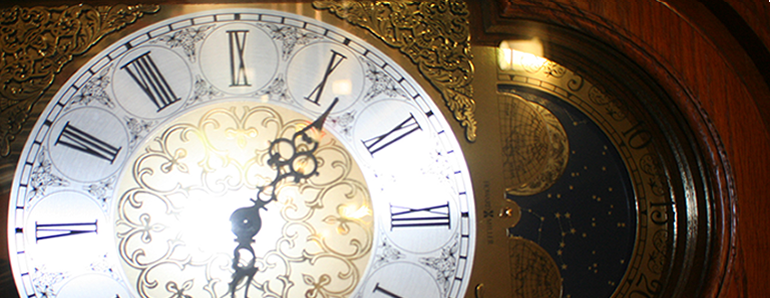 Carlson Library's Grandfather Clock
